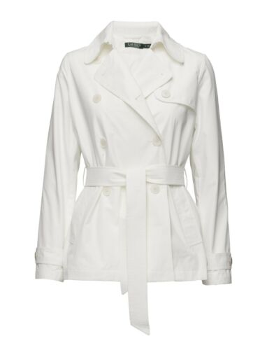 Trench Bnwt White Size Lauren Medium Ralph Coat vTnwxrT7