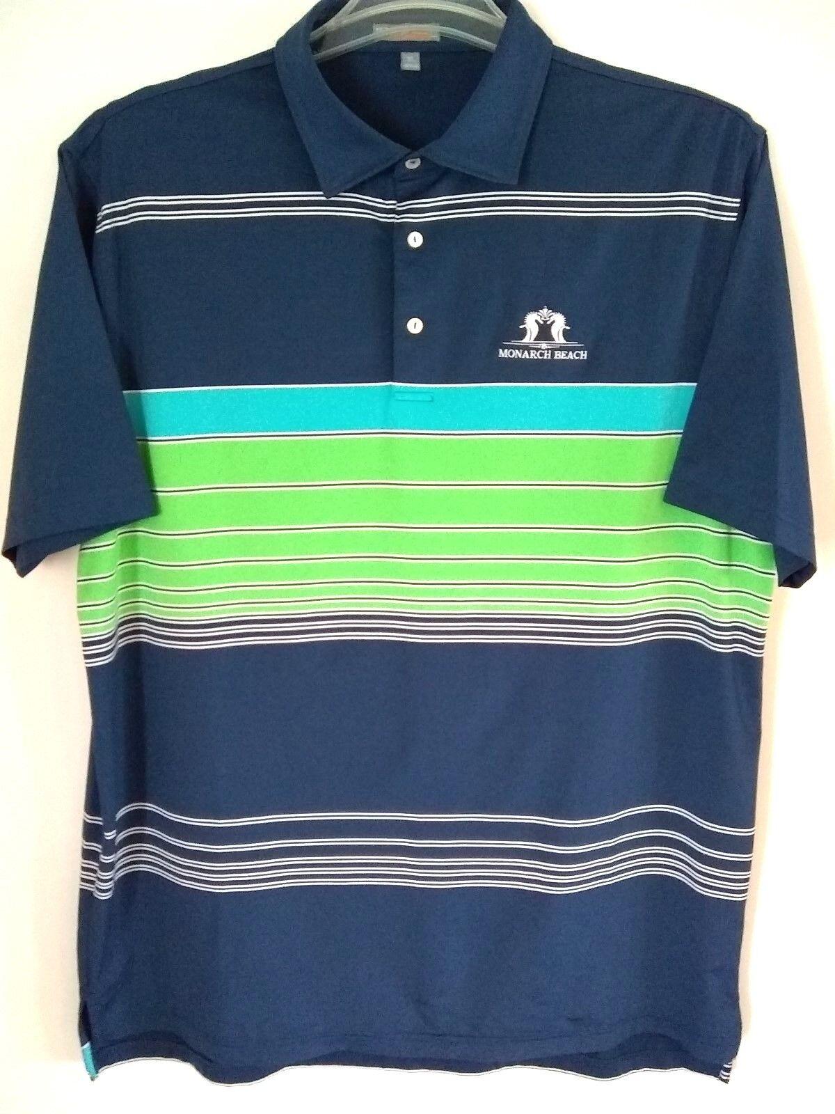 Peter Millar Mens Summer Comfort Multicolor Monarch Beach Shirt Size XL