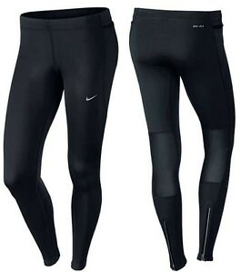 Nike-Epic-Run-Ladies-Black-Full-Length-Tights-645599-010-010-Size-M