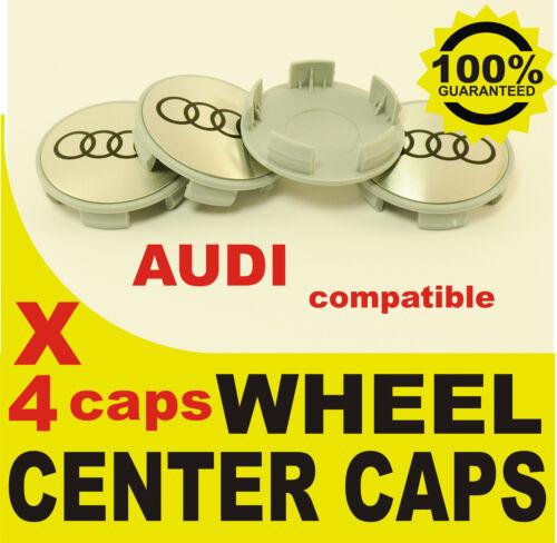 tapas llantas ruedas  wheel center caps 4 METAL STICKERS 4 CAPS AUDI