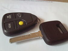 Genuine Volvo v40 v70 c70 s40 s60 s70 etc 4 pulsante telecomando portachiavi allarme + CHIAVE