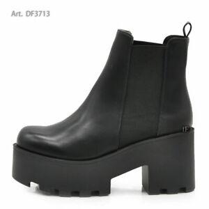 a buon mercato prezzo competitivo moda firmata Dettagli su Stivaletti Platform Scarpe Da Donna Doppio Fondo Carro Armato  Carrarmato DF3713