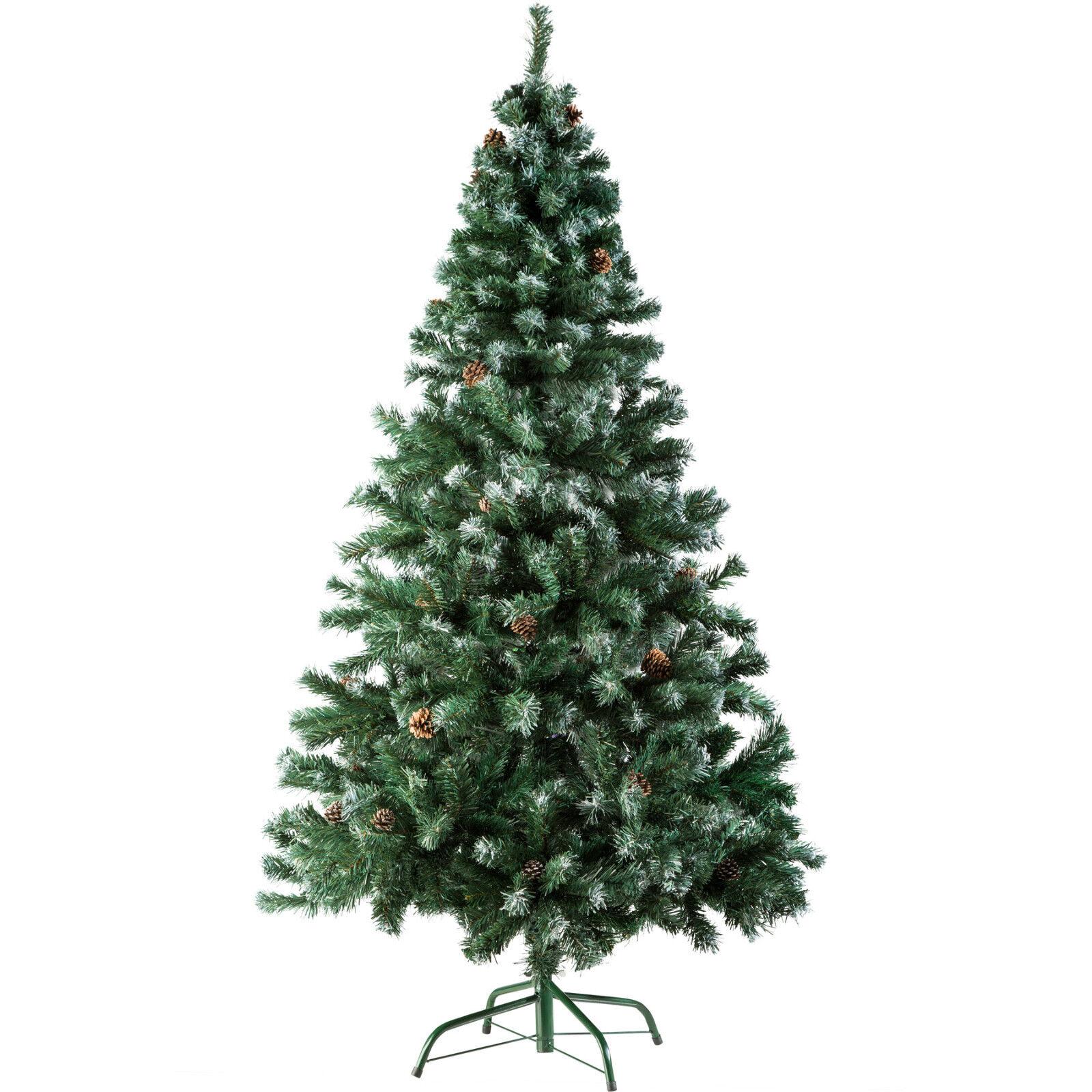 Albero di Natale Artificiale + Supporto Natalizia 705 Punte Pigne 180 cm Grün