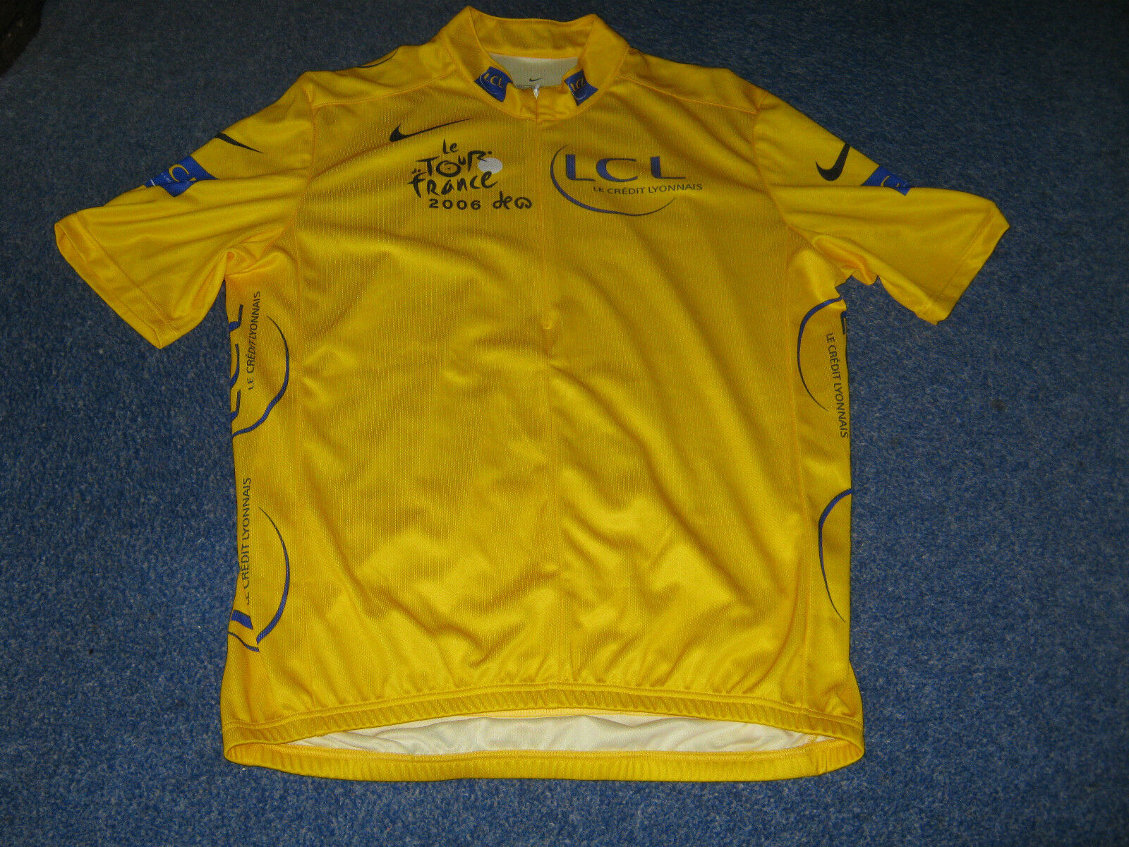 TOUR DE FRANCE 2006 NIKE YELLOW LEADERS CYCLING JERSEY [L]