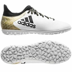 online retailer 4fa81 37b8f Details about adidas X 16.3 TRX TF Turf 2016 Soccer Shoes White   Black    Gold Kids - Youth