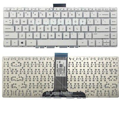 New For Hp Stream 14 Ax022nr 14 Ax027cl 14 Ax030nr Keyboard Us Qwerty White Ebay
