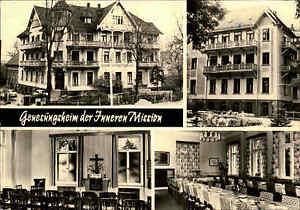 7232-BAD-LAUSICK-DDR-Mehrbild-AK-Genesungsheim-Innere-Mission-AK-1978-Postkarte