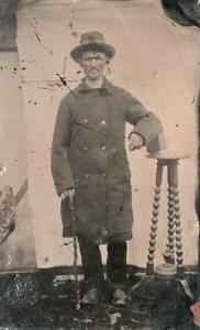 ORIG VICTORIAN Tintype  Ferrotype Photograph c1860039s MALE WITH WALKING STICK - England, United Kingdom - ORIG VICTORIAN Tintype  Ferrotype Photograph c1860039s MALE WITH WALKING STICK - England, United Kingdom