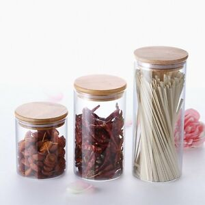 Image is loading KITCHEN-GLASS-JAR-CANISTER-FOOD-STORAGE-CONTAINER-TEA-  sc 1 st  eBay & KITCHEN GLASS JAR CANISTER FOOD STORAGE CONTAINER TEA COFFEE SNACKS ...