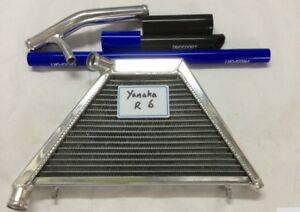 Details about ADDITIONAL RADIATOR FOR YAMAHA YZF-R6 R6 08-14 INCLUDING HOSE  KIT