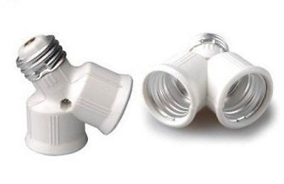 1 Adaptateur Douille E27 Double Ampoule Gros Culot Vis Vers 2 Gros Culots à Vis Ricco E Magnifico