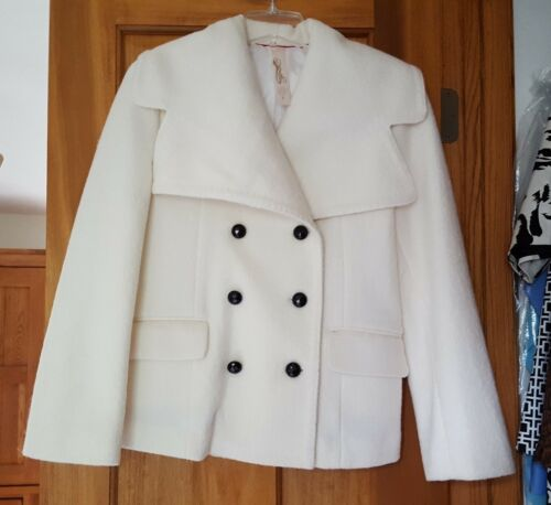 Manteau Taille Blanc Priorities Petit Court Ivoire Nwot Veste S Hw55qzpU