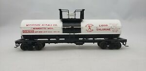 HO-Scale-Athearn-Michigan-Alkali-Co-Single-Dome-Tank-Car-Train-GATX-32308