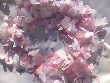 Rosa & Bianco Farfalla & Cuore Per Nozze Coriandoli Biodegradabile Fatto A Mano