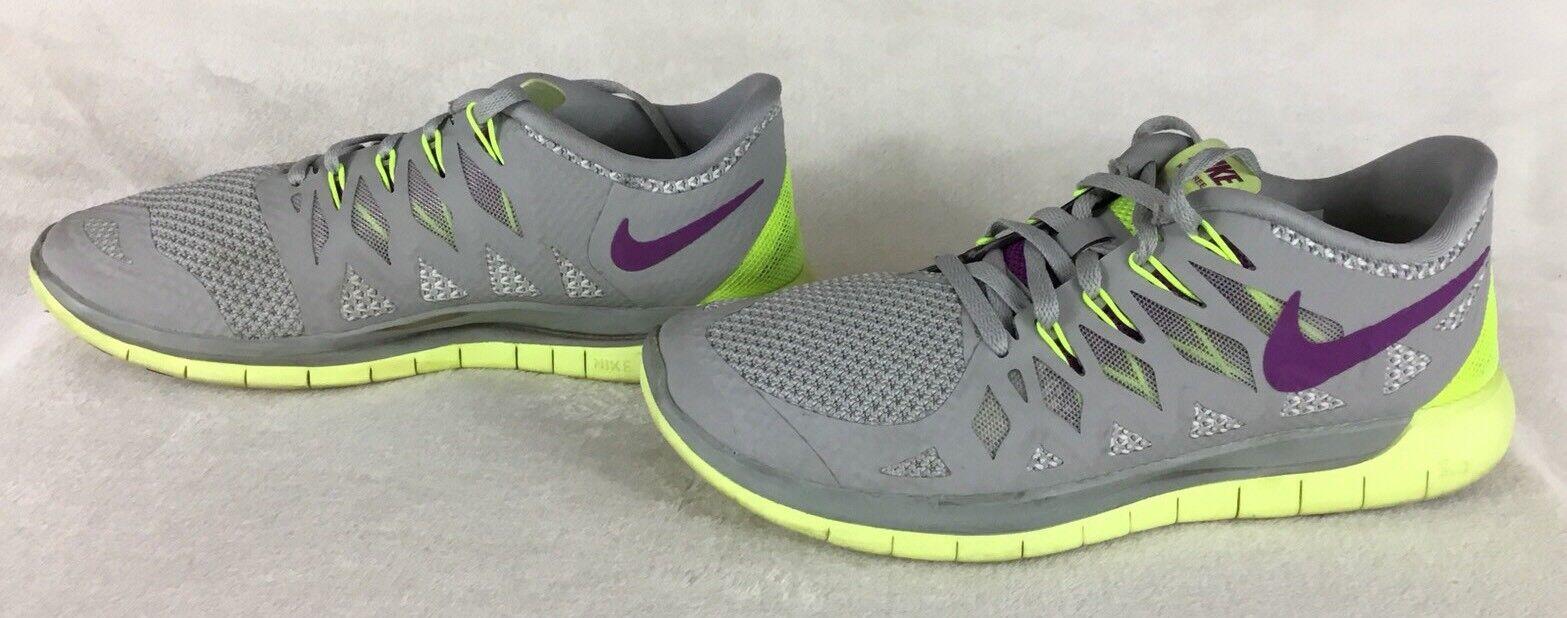 on sale 659d4 a830b Nike Free 5.0 Gray Yellow Purple Athletic Running Shoe 642199-005 Women s  Sz 7.5