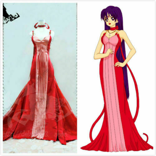 H-6001 Crystal Mars Rei SAILOR MOON ROSSA BIANCA COSPLAY Costume Abito Set Costume