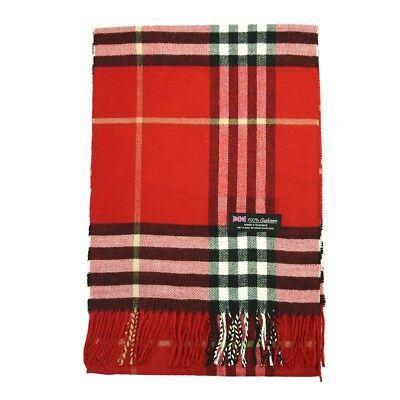 Men Women unisex 100/% CASHMERE Gray Warm Big Stripe Scarf pure Wool