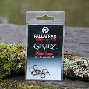 Pallatrax-Gripz-Fishing-Hooks-Size-12-Fishing-Hooks-Barbed-amp-Barbless
