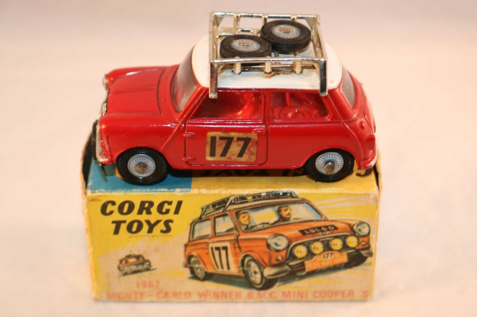 Corgi Toys 339 B.M.C. Mini Cooper S Monte-Carlo winner near mint in box