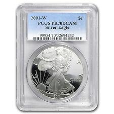 2001-W Proof Silver American Eagle Coin - PR-70 DCAM PCGS