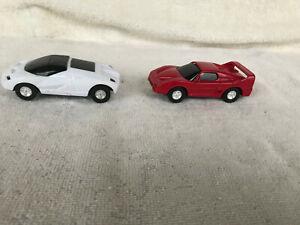 Artin 1:43 Slot Cars (2) Ferrari Testarossi & Ford and Racing Scenic Accessories