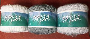 Katia-Brisa-Yarn-in-3-colors-U-CHOOSE-White-Silver-or-Gray-Viscose-Acrylic-50g