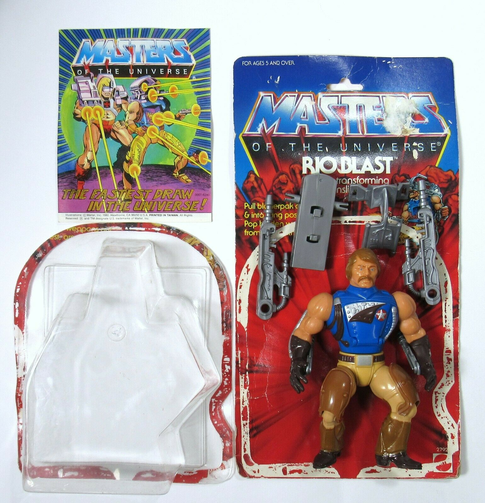 Vintage Mattel Amos del universo río blast figura y embalaje 1986
