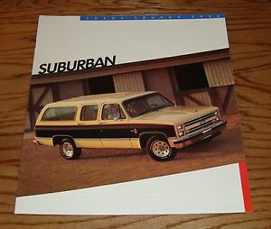 Image Is Loading Original 1986 Chevrolet Truck Suburban S Brochure 86