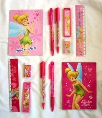 2 Disney Tinkerbell Stationery Gift Set Licensed Perfect Kids School Activities