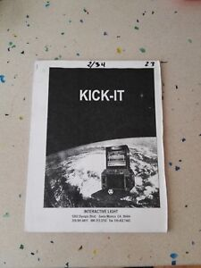 Consciencieux Interactive Light Kick It Original Assembly Manual Artisanat Exquis;