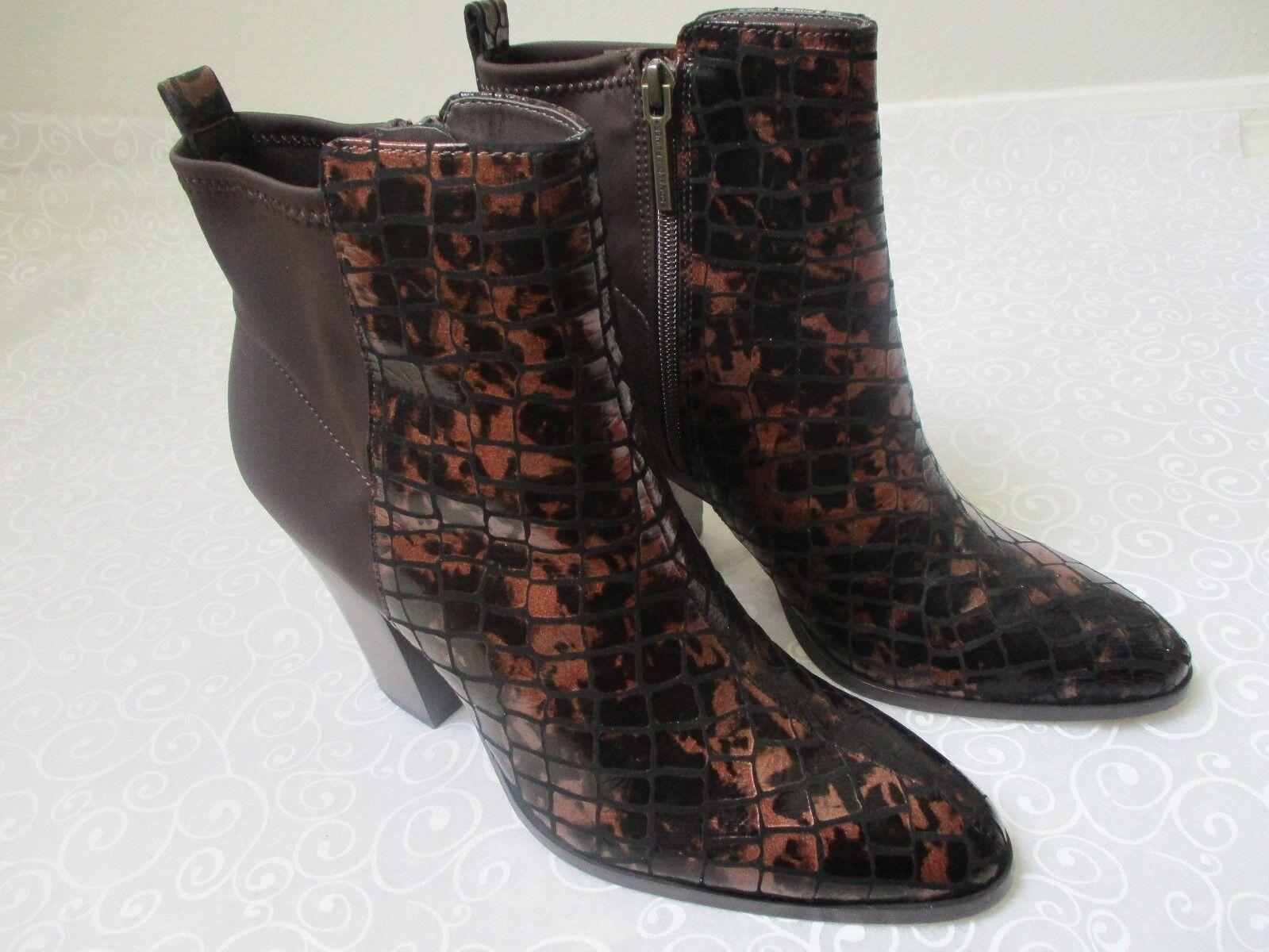 Donald J plinner Sasse Bronce Metálico Crocco Crocco Crocco Tobillo botas Talla 10 M-Nuevo  Sin impuestos