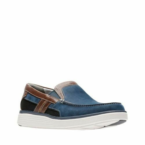 2ea58d894c5 Mens Clarks Un Abode Casual Slip on Shoes G Fitting UK 10 Navy (blue ...