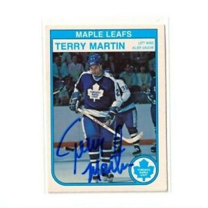 """TERRY MARTIN autographed SIGNED '82/83 TORONTO MAPLE LEAFS """"O-Pee-Chee"""" card"""