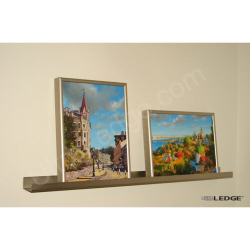 Photo Art Display 7ft ultraLEDGE Stainless Steel Floating Shelf Picture Ledge