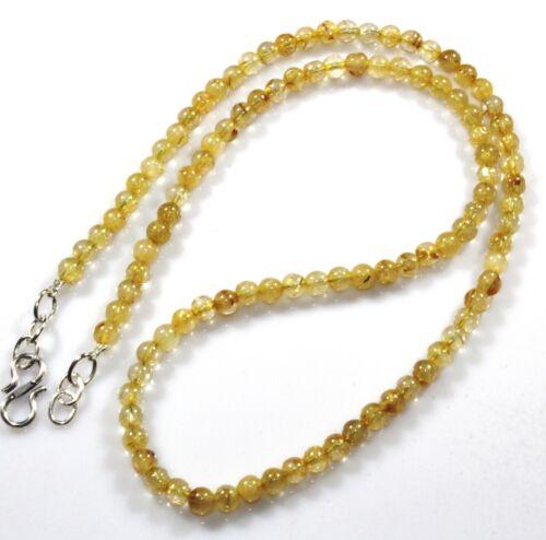 Natural Golden Rutilated Quartz Collier Bijoux 4.7 mm Guérison Pâques Cadeau Vente