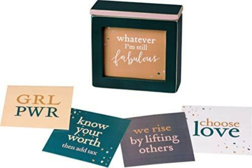 Primitives by Kathy Classic Wooden Keepsake Box Words of Wisdom Empower