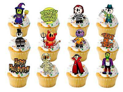 12 x LARGE Edible Halloween Monster STAND UPS STANDUP Fairy Cup Cake Toppers