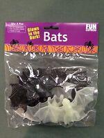 Fun Express Halloween Glow In The Dark & Black Bats 8 Pieces In Package