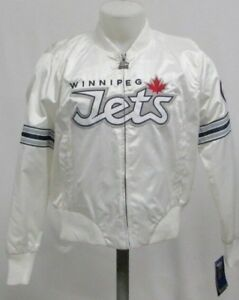 Image is loading Winnipeg-Jets-NHL-White-Full-Zip-Womens-STARTER- 7de48d3a8