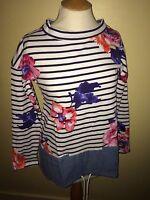 JOULES Mariana Rose Stripe Sweatshirt Smock Sz 8 (poss 10) RRP£49.95 FreeUKP&P