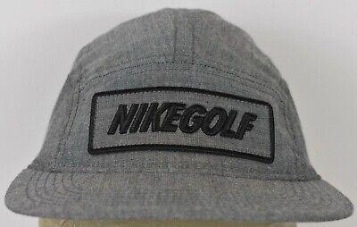 ac3457817 Nike Golf Grey Adjustable Leather Strap Baseball Hat Cap | eBay