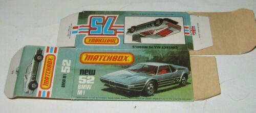 Matchbox Superfast No.52 BMW M1 EMPTY BOX ONLY