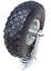 Lenkrolle 260 x 85 mm3.00-4 Luftrad Stahlfelge Silber Transportwagen