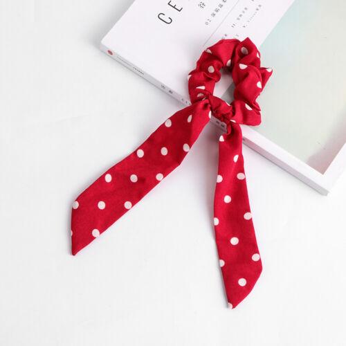 Boho Print Hair Scrunchie Ponytail Holder Scarf Hair Tie Rope Elastic Hair Band