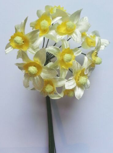 Miniature Daffodils Flower Stems Easter Wedding Favour Decoration Craft