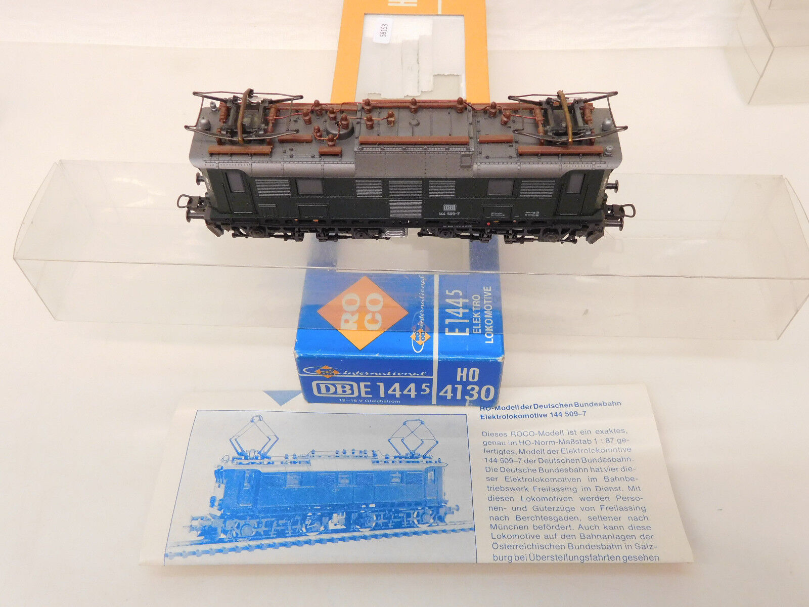 Mes-58153 ROCO 4130 h0 E-Lok DB 144 509-7 ottime condizioni, esaminato funzione,