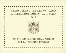Vaticano 2 EURO COMMEMORATIVO 2017 FDC Martirio Santi Pietro e Paolo