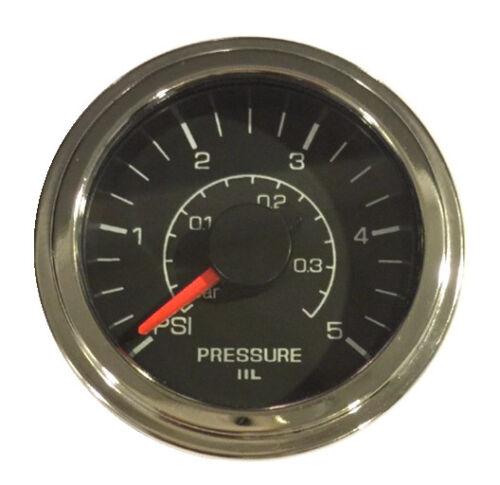 """LED light 2-1//16/""""//52mm Pressure Transducer Gauge 5 psi analog voltage input"""