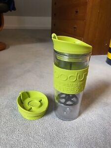Bodum Insulated Plastic Travel French Press Coffee and Tea Mug, 0.45 L, 15oz