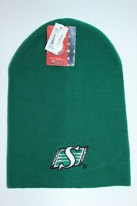 SASKATCHEWAN-ROUGHRIDERS-GREEN-TOQUE-WITH-LOGO-NEW